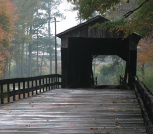 Historic covered bridge in Georgia